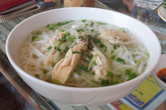 Hot bowl of Vietnamese Pho in Siagon